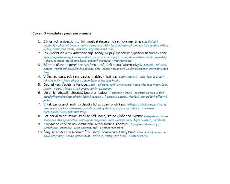 Pravopisná cvičení nejen pro maturanty a jejich učitele 1. díl